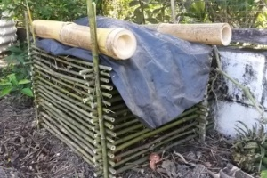 bamboo compost bins, bamboo