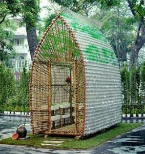 bamboo and plastic greenhouse